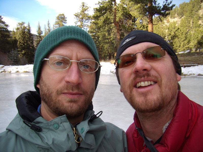 Danny Basch and I  -Estes Park pond, CO 1/15/2012