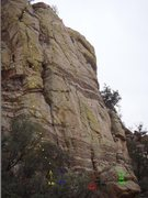 "Rock Climbing Photo: This is the white rock with ""Amateur Hour&quo..."