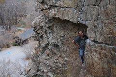 Rock Climbing Photo: james on an a huber classic:)
