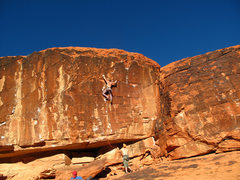 Rock Climbing Photo: leading Aftershock