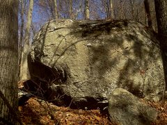 Rock Climbing Photo: side of V1 boulder with 2 projects