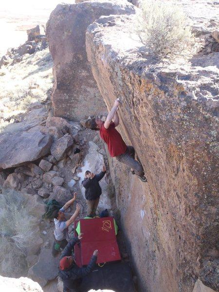 Rock Climbing Photo: super classic highball on a beautiful rock