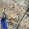 Beckey bolt at crux of pitch nine. Take!?<br>