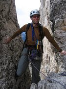 Rock Climbing Photo: Finishing the fifth pitch of the South Rib of Sass...