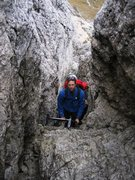 Rock Climbing Photo: Descent down ladders and through old WWI tranches ...