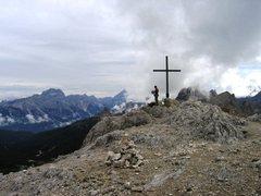 Rock Climbing Photo: Summit of the Sass de Stria