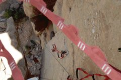 Rock Climbing Photo: Aid solo first ascent