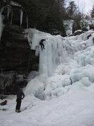Rock Climbing Photo: Climbers toproping Glen Onoko Lower Falls.