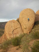"""Rock Climbing Photo: Climber nearing the anchors on """"Western Omele..."""
