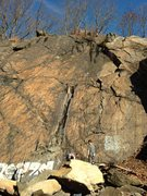 Rock Climbing Photo: Public Service (left) and Two Pines (right, starti...