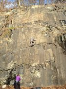 Rock Climbing Photo: Frank in the middle of Demon...