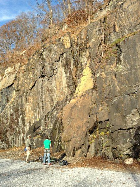Rock Climbing Photo: Climbers finish the Sighting.