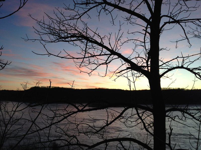 Rock Climbing Photo: Sunset over the Susquehanna, from Safe Harbor Sout...
