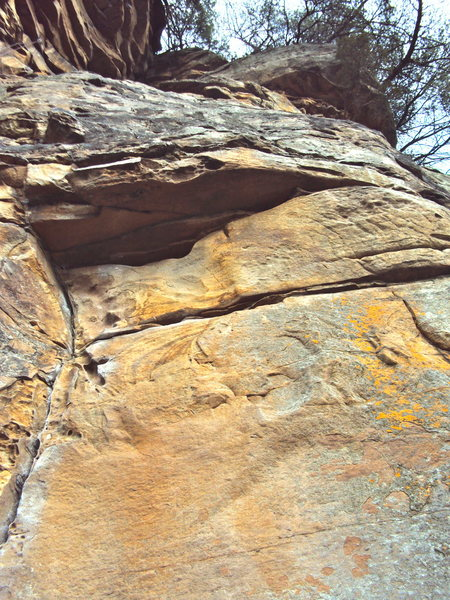 Rock Climbing Photo: Clean view of Crack and Roof.