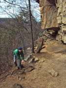 Rock Climbing Photo: Warm hands on a chilly January morning.  Nice fire...