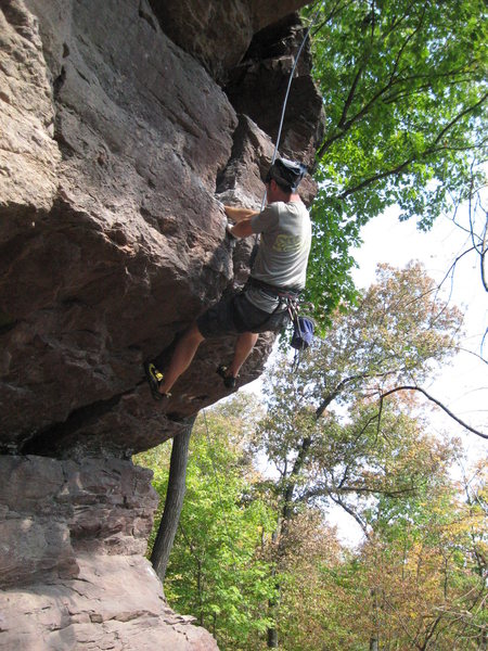 Dan halfway through the fist crack.