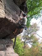 Rock Climbing Photo: Dan halfway through the fist crack.