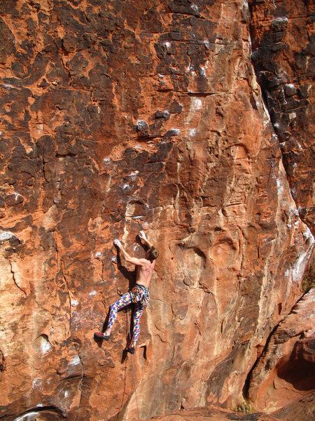 Rock Climbing Photo: Me leading Minstrel in the Gallery.  It seemed as ...