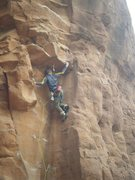Rock Climbing Photo: Nice big sloper jug