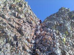 Rock Climbing Photo: Pitch 1 to gain the ridge
