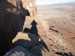 Rock Climbing Photo: On Top of the tower. 'Finish Line' is about 6'x20'...
