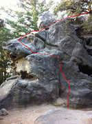 Rock Climbing Photo: Free solo access to top of Castle Rock