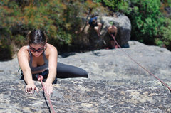 Rock Climbing Photo: Mt. Doom slab route