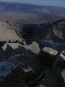 Rock Climbing Photo: Looking back down at the Whitney portal from the s...