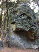 Rock Climbing Photo: There are some great overhang routes on the east f...