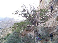 """Rock Climbing Photo: Derek going up the """"Running Man"""""""