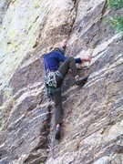 Rock Climbing Photo: Notice how wet his shoes are...he did the FA in th...