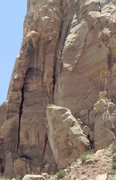 Rock Climbing Photo: Elbow Grease starts just behind the leaning block/...