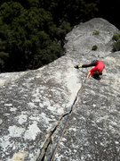 Rock Climbing Photo: Above the crux section on the 3rd pitch.