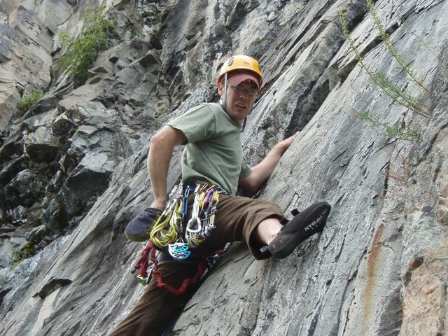 Rock Climbing Photo: Short trad route at Prospector