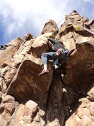 Rock Climbing Photo: Going in left side in makes it tough to get your s...