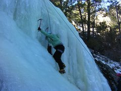 Rock Climbing Photo: My first ice climb. Wooohoo!