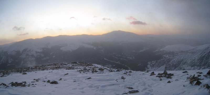 Rock Climbing Photo: Sunrise on Quandary in November