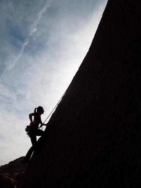 Rock Climbing Photo: Adrienne Kentner following Right Side Arete 5.10b