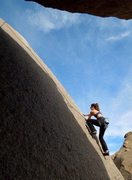 Rock Climbing Photo: Adrienne Kentner following Lesbian Lust 5.9