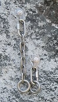 Classic 2 Bolt Rap Anchor with Rings and Chain