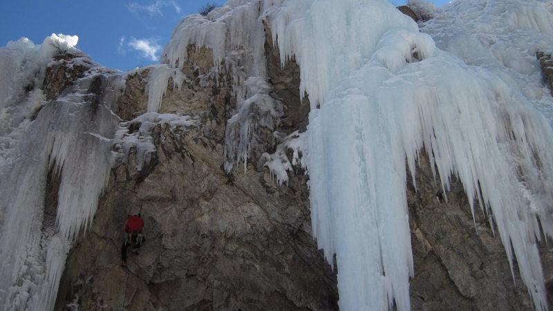 Rock Climbing Photo: Mixed terrain, Lake City ice park.