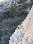 Rock Climbing Photo: Following first pitch.