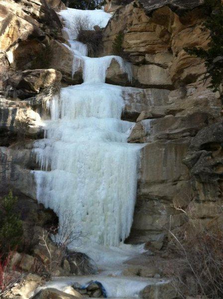 Rock Climbing Photo: CCC Falls pitch 1. Joes