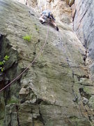 Rock Climbing Photo: The start of Credibility Gap. I got off route by c...