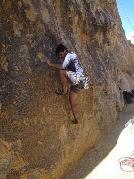Rock Climbing Photo: Lluis enjoying that crimpy start.