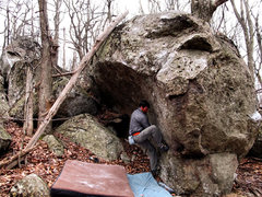 """Rock Climbing Photo: Steve Lovelace on the start to """"Waves of Aggr..."""