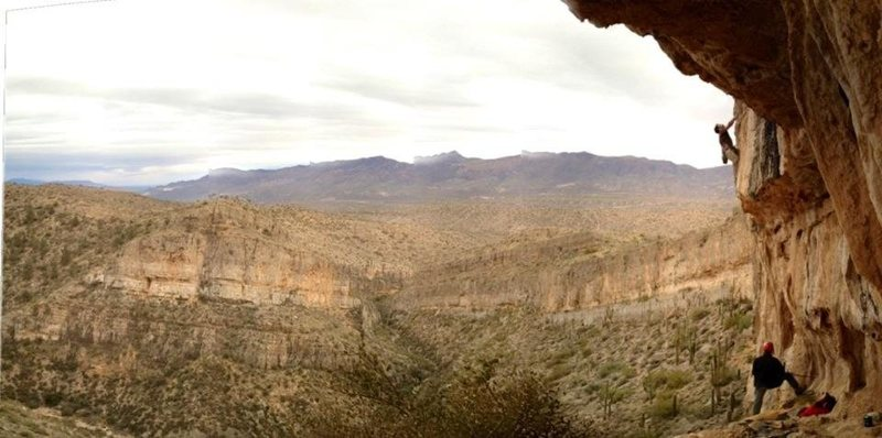 Great view of the Dripping Springs Mountains, and of the Tufa One also!