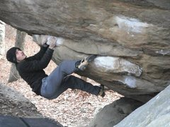 Rock Climbing Photo: Cuts Like  Knife V5 out in HP40