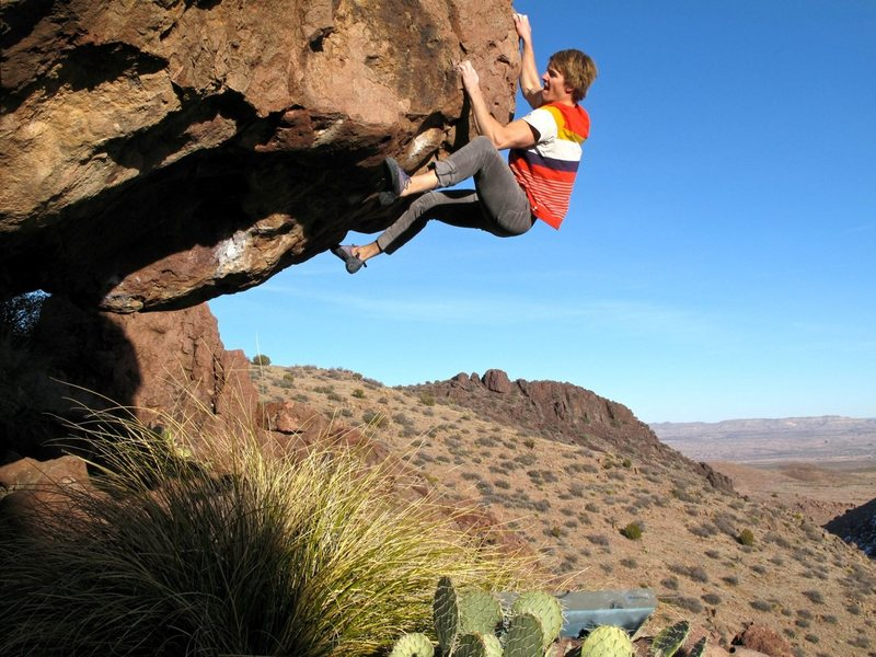 Rock Climbing Photo: The top-out is not as easy as you might think.  Gr...