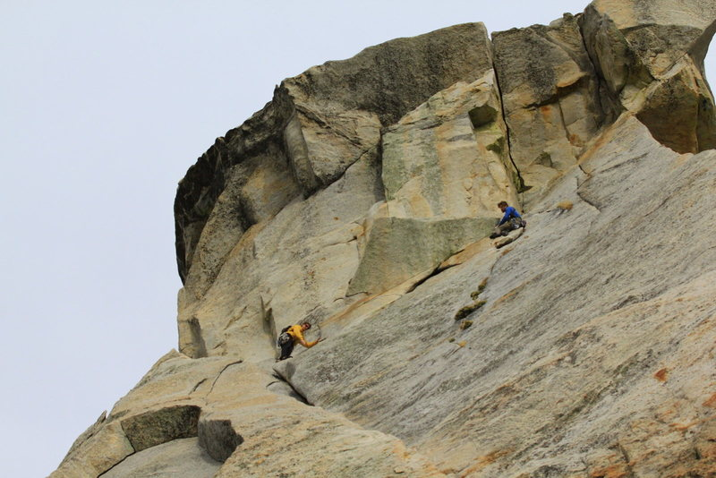 Rock Climbing Photo: Good place to belay if linking from Coffin Nail.